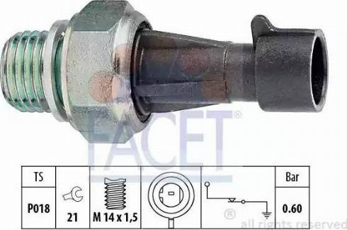 FACET 7.0129 - Датчик давления масла avtokuzovplus.com.ua