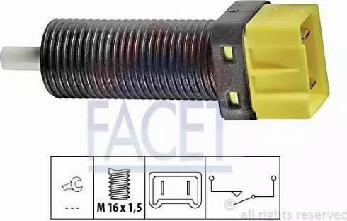 FACET 71134 - Выключатель, привод сцепления (Tempomat) avtokuzovplus.com.ua