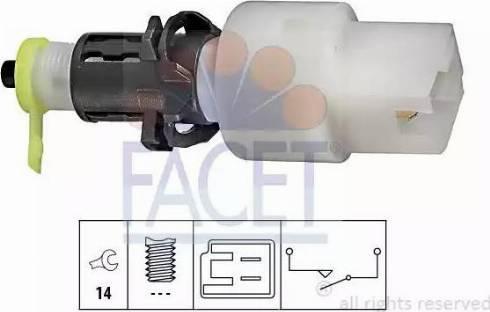 FACET 7.1146 - Выключатель, привод сцепления (Tempomat) car-mod.com