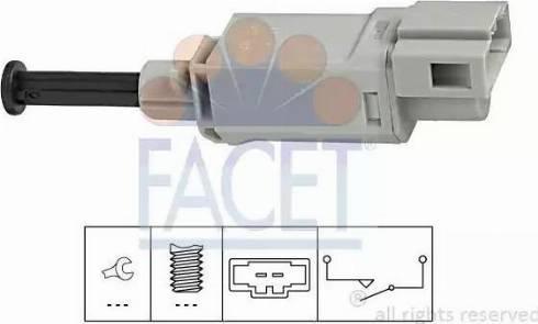 FACET 71152 - Выключатель, привод сцепления (Tempomat) avtokuzovplus.com.ua