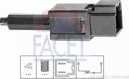 FACET 71165 - Выключатель, привод сцепления (Tempomat) avtokuzovplus.com.ua