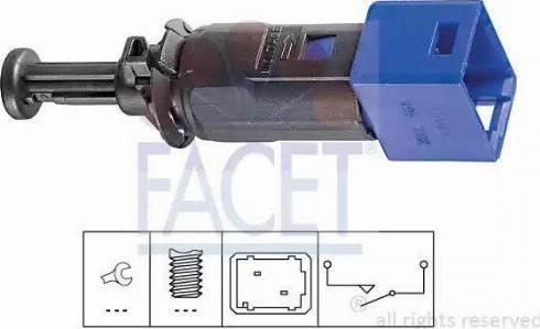 FACET 7.1195 - Выключатель, привод сцепления (управление двигателем) car-mod.com