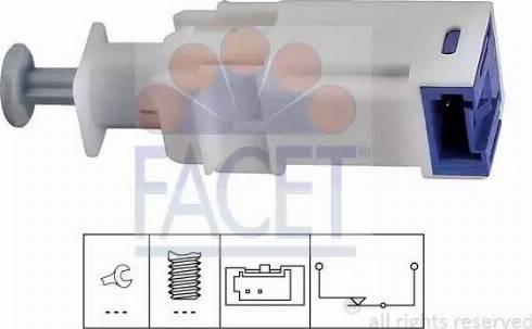 FACET 7.1241 - Выключатель, привод сцепления (управление двигателем) car-mod.com