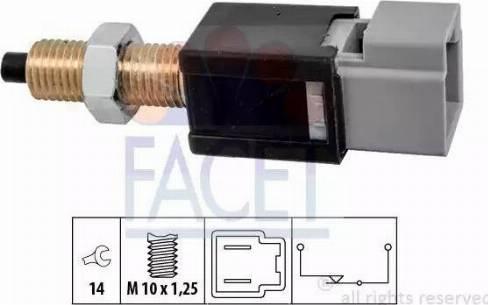 FACET 7.1304 - Выключатель, привод сцепления (Tempomat) car-mod.com