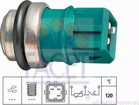 FACET 7.3550 - Датчик, температура охлаждающей жидкости car-mod.com