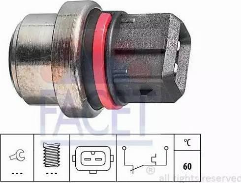 FACET 7.4075 - Термовыключатель, сигнальная лампа охлаждающей жидкости avtokuzovplus.com.ua