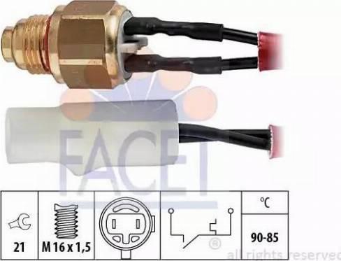 FACET 75110 - Термовыключатель, вентилятор радиатора / кондиционера car-mod.com