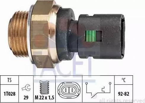 FACET 7.5128 - Термовыключатель, вентилятор радиатора / кондиционера avtokuzovplus.com.ua