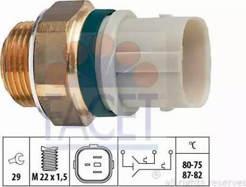 FACET 75654 - Термовыключатель, вентилятор радиатора / кондиционера car-mod.com