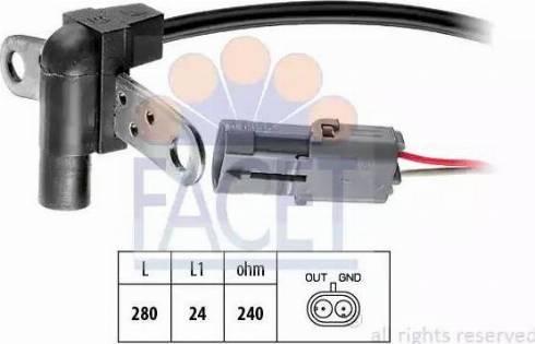 FACET 9.0023 - Датчик импульсов, коленвал car-mod.com