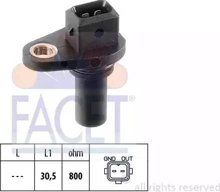 FACET 90028 - Датчик частоты вращения, автоматическая коробка передач car-mod.com
