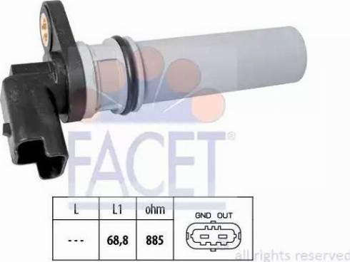 FACET 90537 - Датчик частоты вращения, автоматическая коробка передач autodnr.net