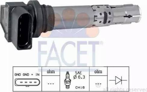 FACET 9.6374 - Катушка зажигания avtokuzovplus.com.ua