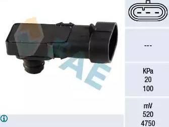 FAE 15016 - Датчик, давление во впускной трубе avtokuzovplus.com.ua