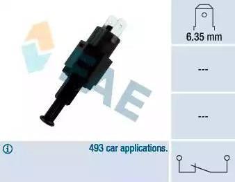 FAE 24310 - Выключатель фонаря сигнала торможения autodnr.net