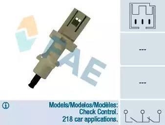 FAE 24410 - Выключатель, привод сцепления (Tempomat) car-mod.com