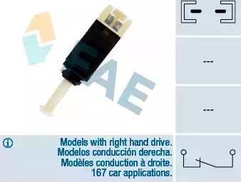 FAE 24430 - Выключатель фонаря сигнала торможения autodnr.net