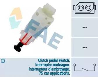 FAE 24499 - Выключатель, привод сцепления (Tempomat) car-mod.com