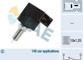 FAE 24544 - Выключатель, привод сцепления (Tempomat) autodnr.net