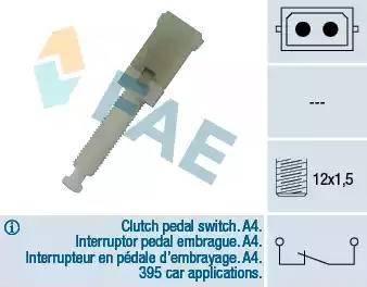 FAE 24560 - Выключатель фонаря сигнала торможения autodnr.net