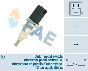 FAE 24665 - Выключатель, привод сцепления (Tempomat) car-mod.com