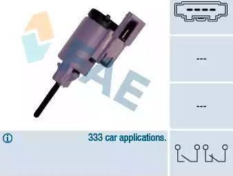 FAE 24760 - Выключатель фонаря сигнала торможения autodnr.net