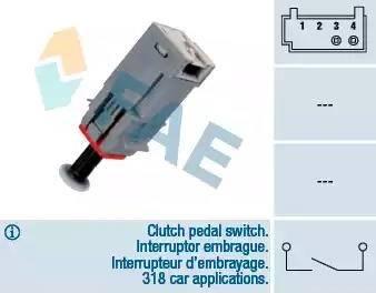 FAE 24790 - Выключатель, привод сцепления (Tempomat) autodnr.net