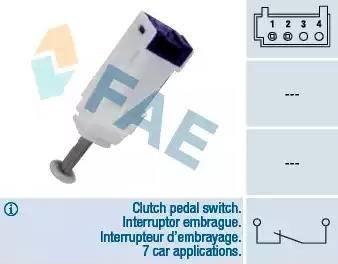 FAE 24792 - Выключатель, привод сцепления (Tempomat) autodnr.net