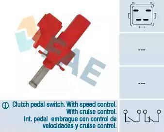 FAE 24835 - Выключатель, привод сцепления (Tempomat) autodnr.net