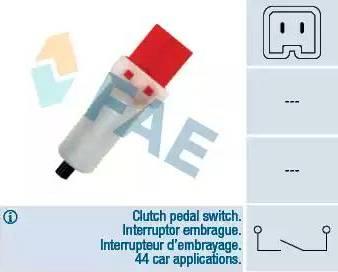FAE 24884 - Выключатель, привод сцепления (Tempomat) car-mod.com