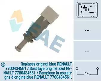 FAE 24891 - Выключатель, привод сцепления (Tempomat) autodnr.net
