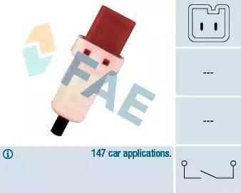 FAE 24896 - Выключатель, привод сцепления (Tempomat) avtokuzovplus.com.ua