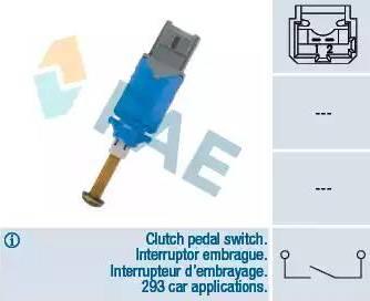 FAE 24901 - Выключатель, привод сцепления (Tempomat) car-mod.com