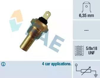 FAE 31210 - Датчик, температура головки цилиндров autodnr.net
