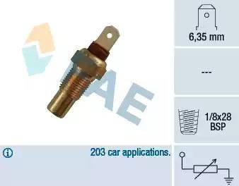 FAE 31570 - Датчик, температура охлаждающей жидкости avtokuzovplus.com.ua