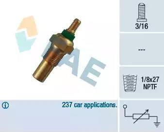 FAE 32010 - Датчик, температура охлаждающей жидкости avtokuzovplus.com.ua
