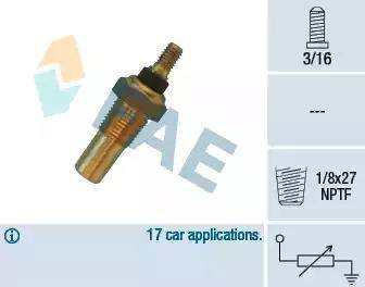 FAE 32040 - Датчик, температура охлаждающей жидкости autodnr.net
