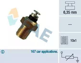 FAE 32110 - Датчик, температура охлаждающей жидкости avtokuzovplus.com.ua