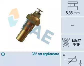 FAE 32230 - Датчик, температура охлаждающей жидкости autodnr.net