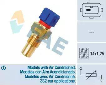 FAE 32290 - Датчик, температура головки цилиндров autodnr.net