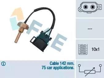 FAE 32370 - Датчик, температура головки цилиндров autodnr.net