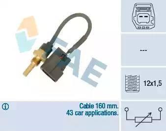 FAE 32425 - Датчик, температура головки цилиндров autodnr.net