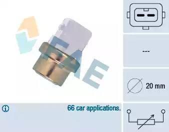 FAE 32600 - Датчик, температура охлаждающей жидкости avtokuzovplus.com.ua