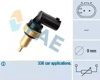 FAE 32706 - Датчик, температура головки цилиндров autodnr.net