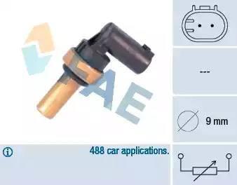 FAE 32710 - Датчик, температура головки цилиндров autodnr.net