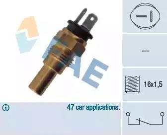 FAE 32742 - Датчик, температура охлаждающей жидкости avtokuzovplus.com.ua