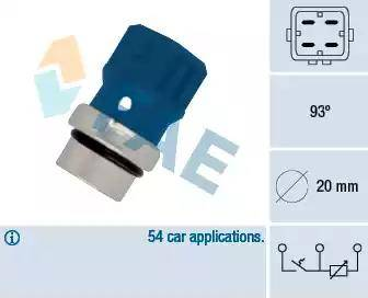 FAE 34330 - Датчик, температура охлаждающей жидкости avtokuzovplus.com.ua