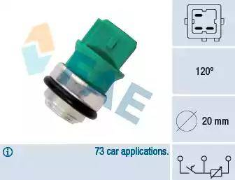 FAE 34350 - Датчик, температура охлаждающей жидкости car-mod.com