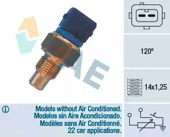 FAE 34460 - Датчик, температура головки цилиндров autodnr.net