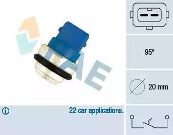 FAE 35635 - Термовыключатель, сигнальная лампа охлаждающей жидкости avtokuzovplus.com.ua